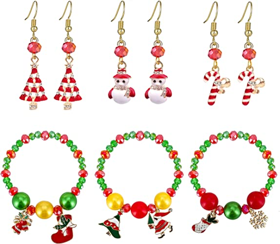 Christmas Hypoallergenic Hoop Earrings Set GiftS For Women Girls Kids,Fashion Christmas Holiday Jewelry Gifts For Christmas,Thanksgiving Xmas