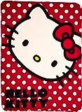 "Hello Kitty, Polka Dot Kitty Printed Fleece Throw, 45"" x 60"""