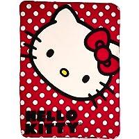 "SANRIO Hello Kitty, ""Polka Dot Kitty"" Fleece Throw Blanket, 45"" x 60"", Multi Color"
