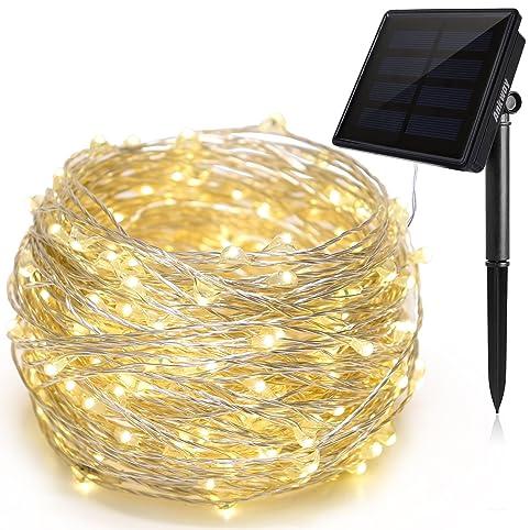 Amazoncom Solar String Lights Ankway 200 LED Fairy Lights 8