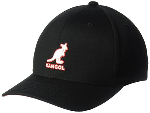 Kangol Unisex-Adults 3D Wool Flexfit Baseball Cap, Black, ...
