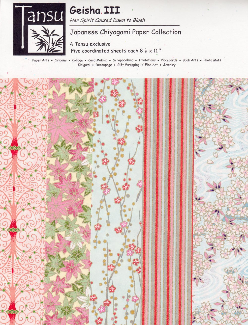 Japanese Chiyogami Papers Spring Beheld Her with Delight Geisha I