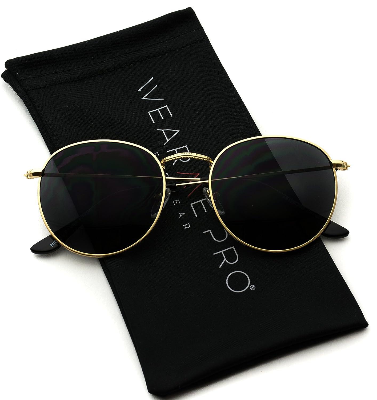 WearMe Pro – Gafas de Sol de Moda con Cristales Redondos Reflectantes Polarizados