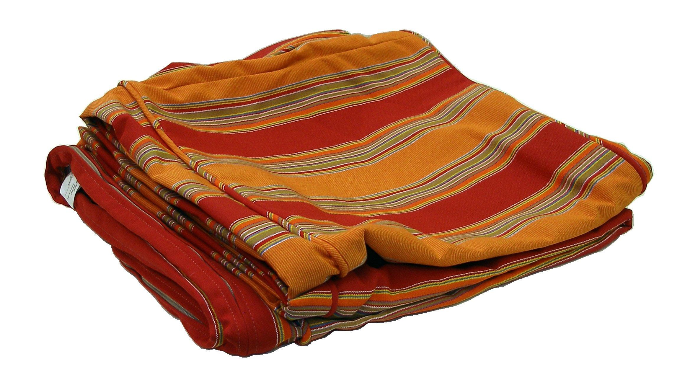 ATC Sunbrella Fabric Cushion Cover for Tatta Lounge Sofa, Bravada Salsa