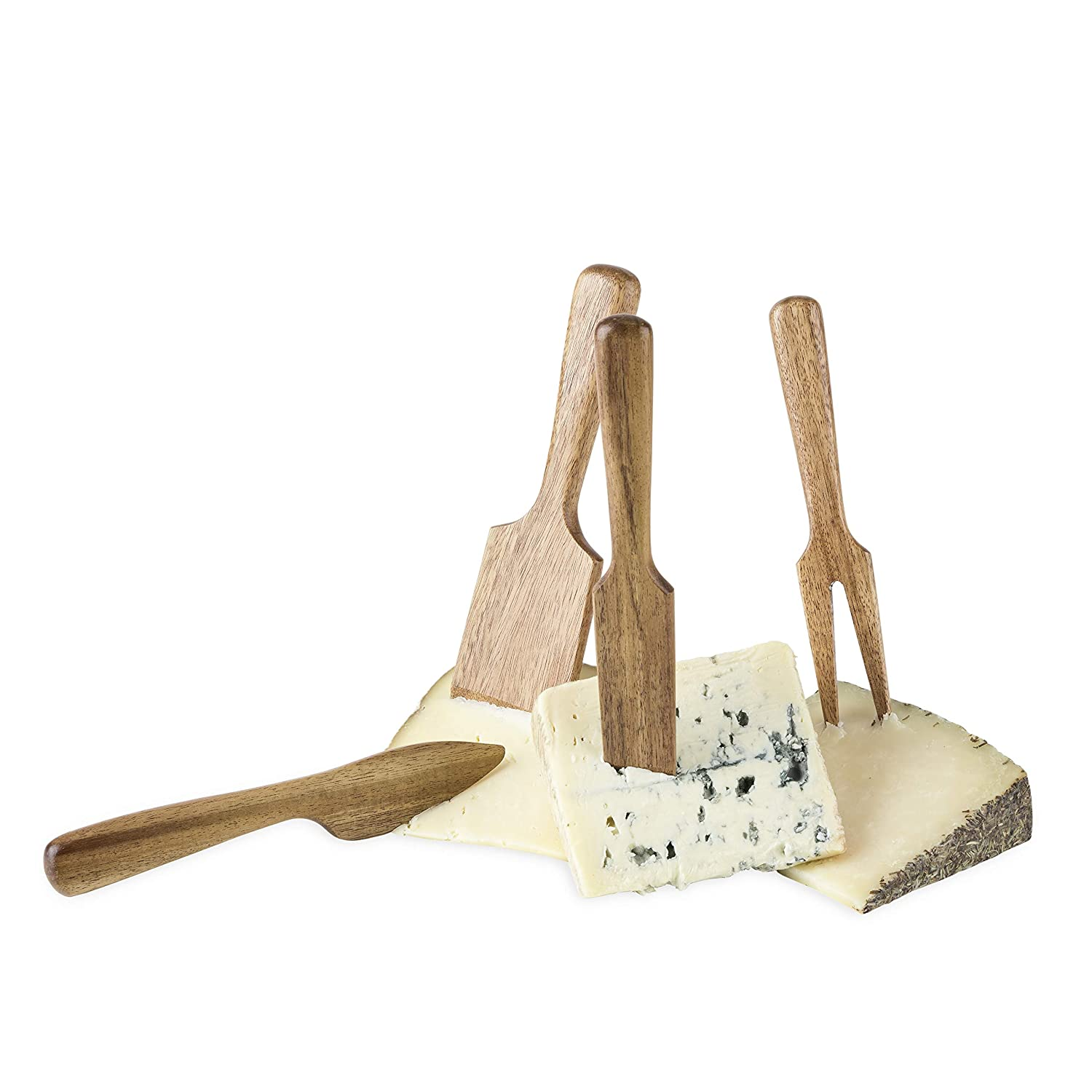 Twine 5589 Country Home Acacia Wood Cheese Set Medium Multi colored