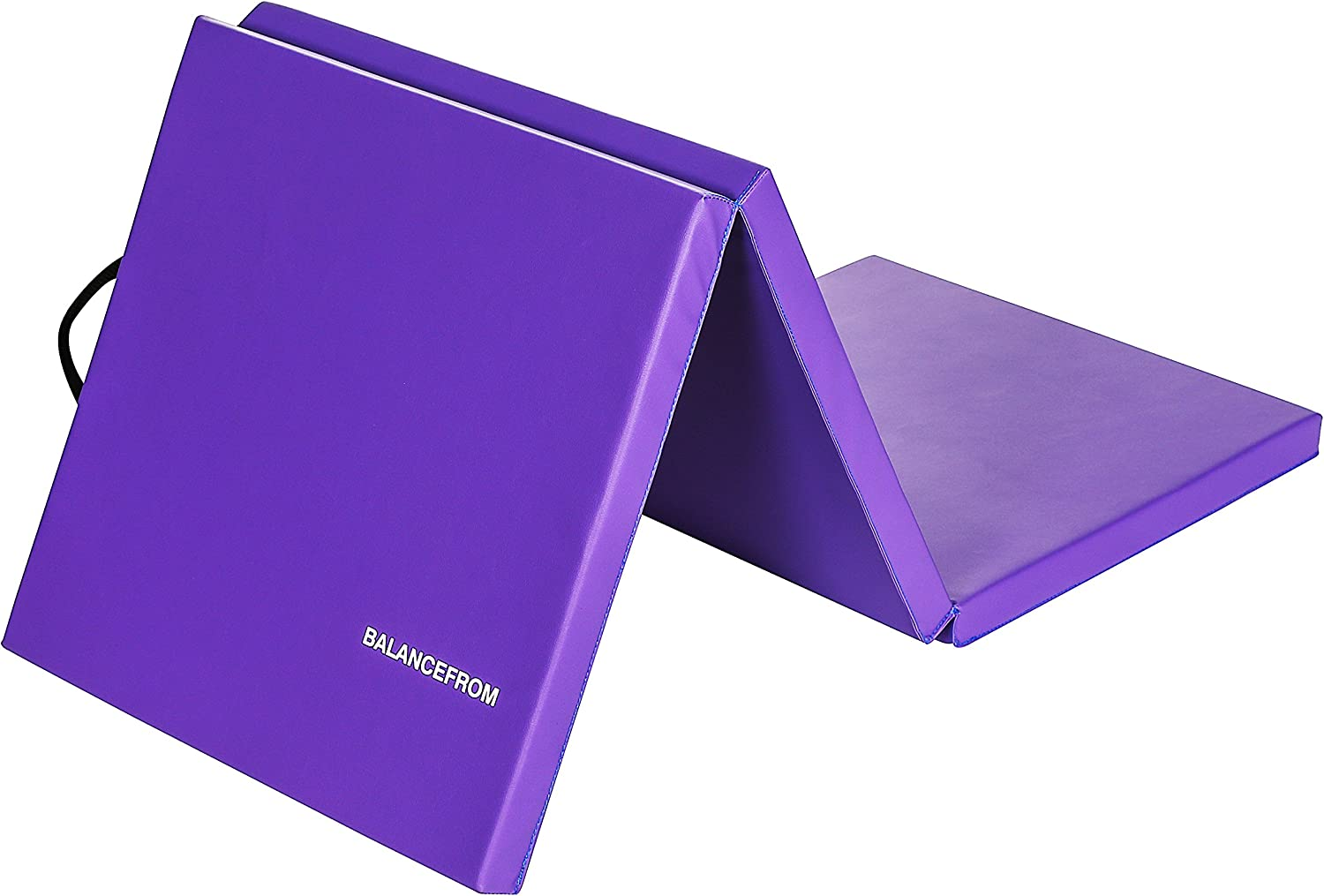 """BalanceFrom 2"""" Thick Tri-Fold Folding Exercise Mat with Carrying Handles for MMA, Gymnastics and Home Gym Protective Flooring (Purple) : Sports & Outdoors"""