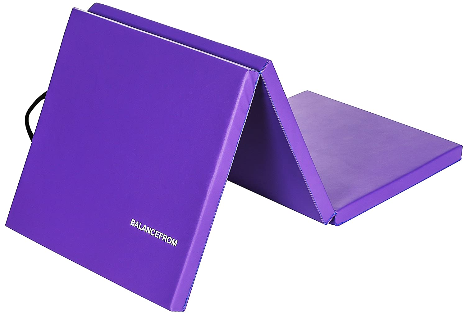 """BalanceFrom 2"""" Thick Tri-Fold Folding Exercise Mat with Carrying Handles for MMA, Gymnastics and Home Gym Protective Flooring"""