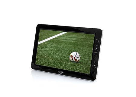 Xoro PTL 1010 26 cm (10,1 Zoll) Tragbarer DVB-T/T2 Fernseher (H265 HEVC, Mediaplayer, USB 2.0, MicroSD, Teleskopantenne, Fern