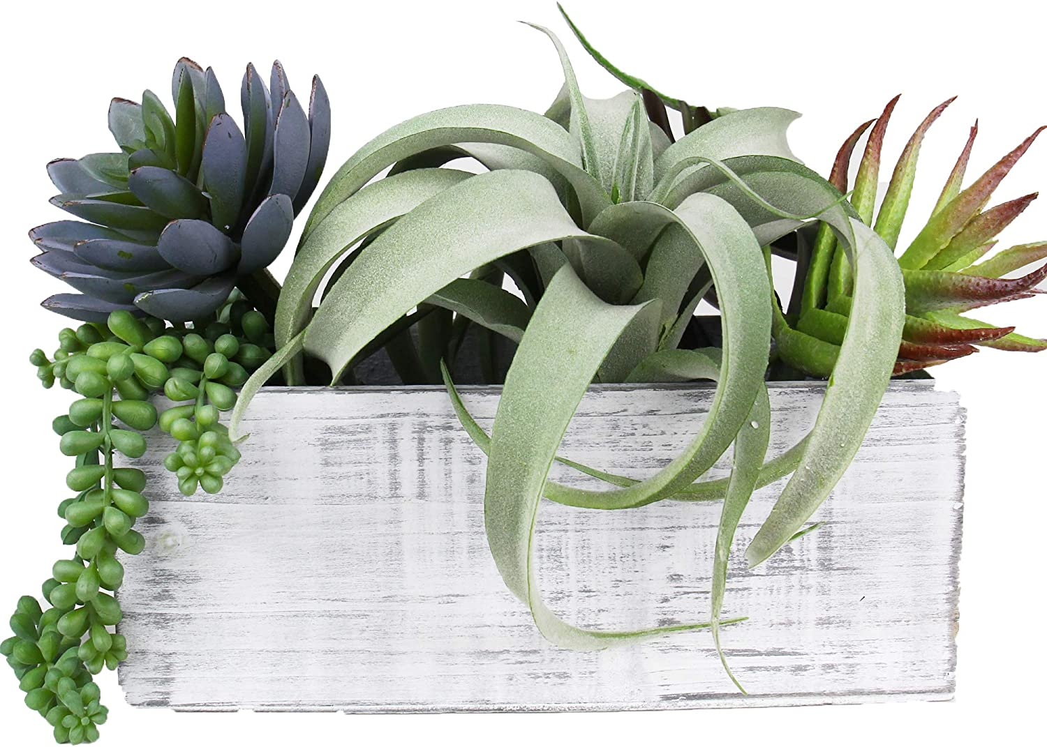 """CYS EXCEL White Wood Planter Box with Plastic Removable Liner (4 Colors Available) 