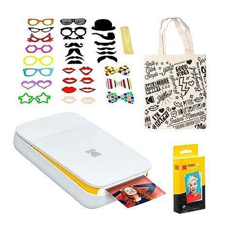 KODAK Smile - Impresora Digital instantánea (Blanca/Amarilla ...