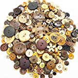 500-600 PCS Mixed Size Color Shapes Buttons Lot for Crafts Sewing Decorations, 2 Holes and 4 Holes