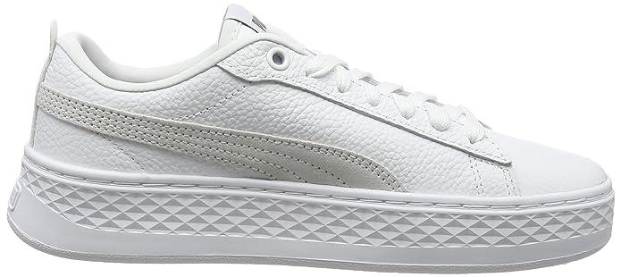 Amazon.com | Puma Womens Smash Platform L Low-Top Sneakers White, 8.5 UK 8.5 UK | Fashion Sneakers
