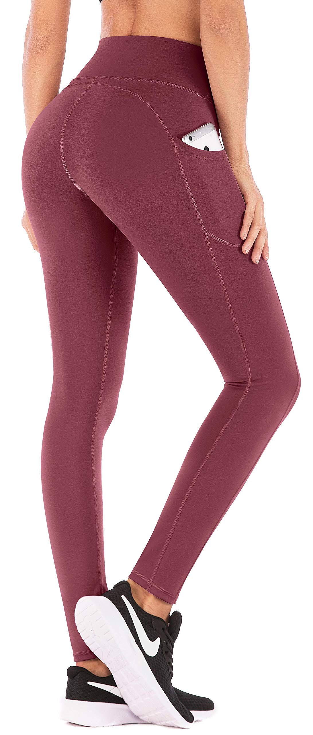 IUGA High Waist Yoga Pants with Pockets, Tummy Control, Workout Pants for Women 4 Way Stretch Yoga Leggings with Pockets 7840 ZHUHON XXL by IUGA