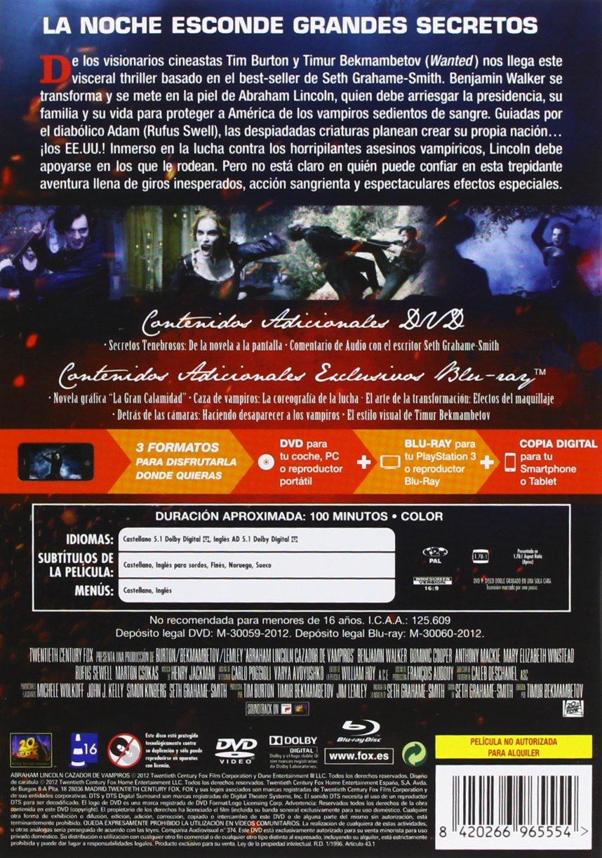 Amazon.com: Abraham Lincoln: Cazador De Vampiros (Dvd + Blu-Ray + Copia Digital) [Dvd] Be: Movies & TV