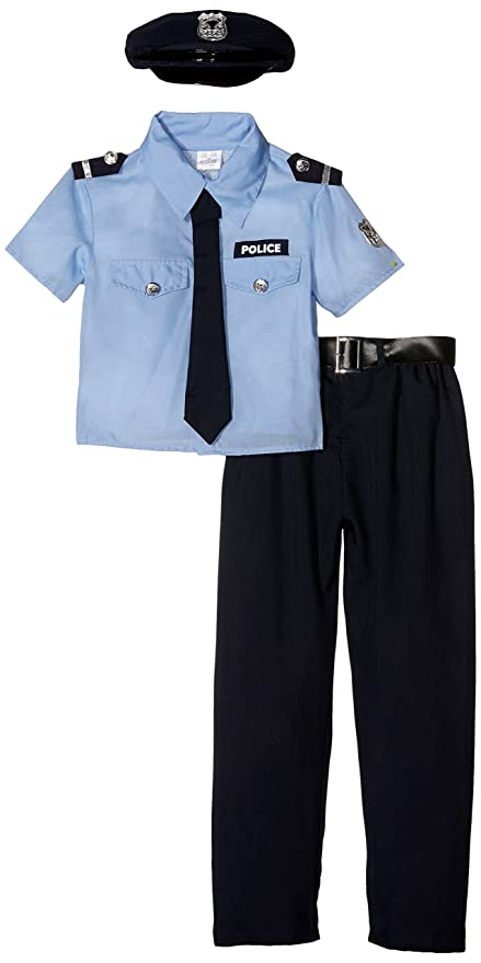 ba236810d7 WIDMANN Poliziotto Camicia Pantaloni Cintura Cravatta Cappello Costumi  Completo 861 per Adulti, Multicolore, 140