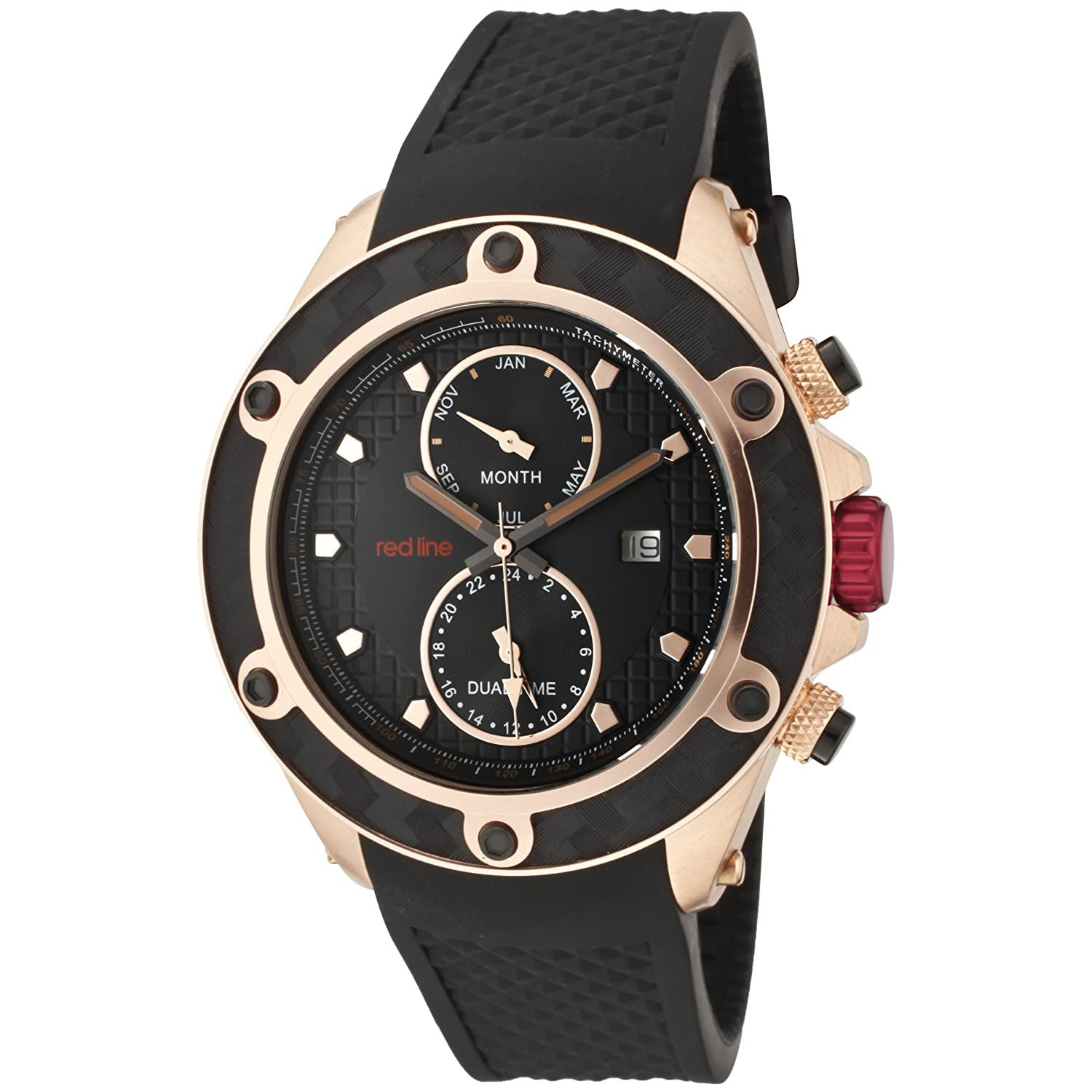 Red Line – rl-10114 – Herrenuhr – Quarz – Analog Gummi Schwarz