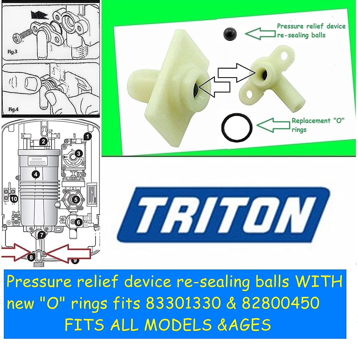Triton electric shower leaking? Pressure Relief Device (PRD) repair ...