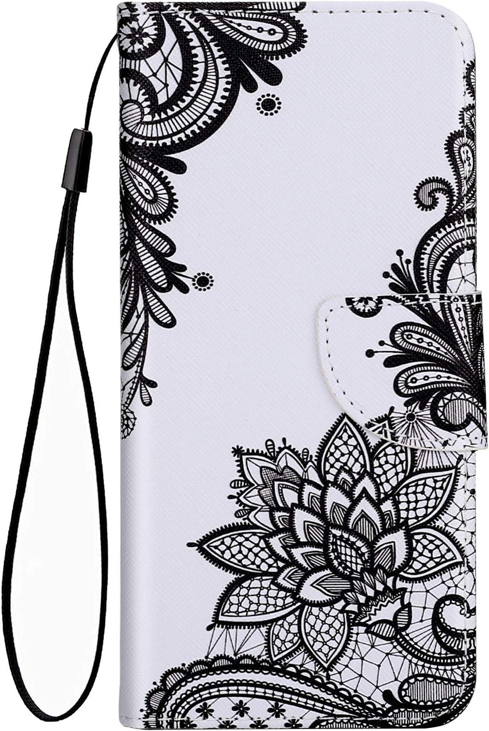 Felfy Cover Compatibile con HuaWei P Smart Plus 2019 PU Pelle Case Magnetica Flip Caso,Compatibile con P Smart Cover Creativo 3D Modello Dipinto Pattern Protettiva Case con Stand Slot per Schede