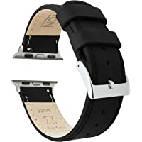 Barton Top Grain Leather Watch Bands Compatible with All Apple Watch Models - Series 5, 4, 3, 2 & 1 - Size 38mm, 40mm…