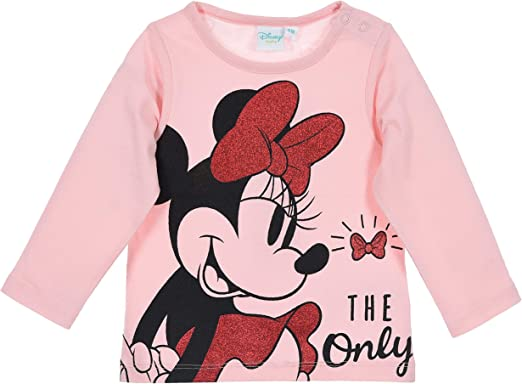 Minnie Mouse beb/é-ni/ñas Camiseta de Manga Larga