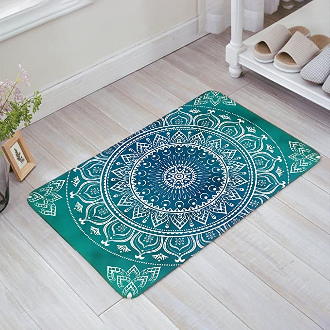 Amazon.com: Multi Color Mandala de alfombra de área de ...