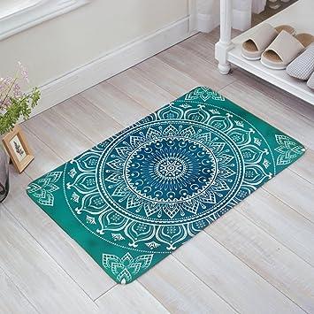 Amazon Com Multi Color Area Rug Bohemian Mandala Doormat Indoor