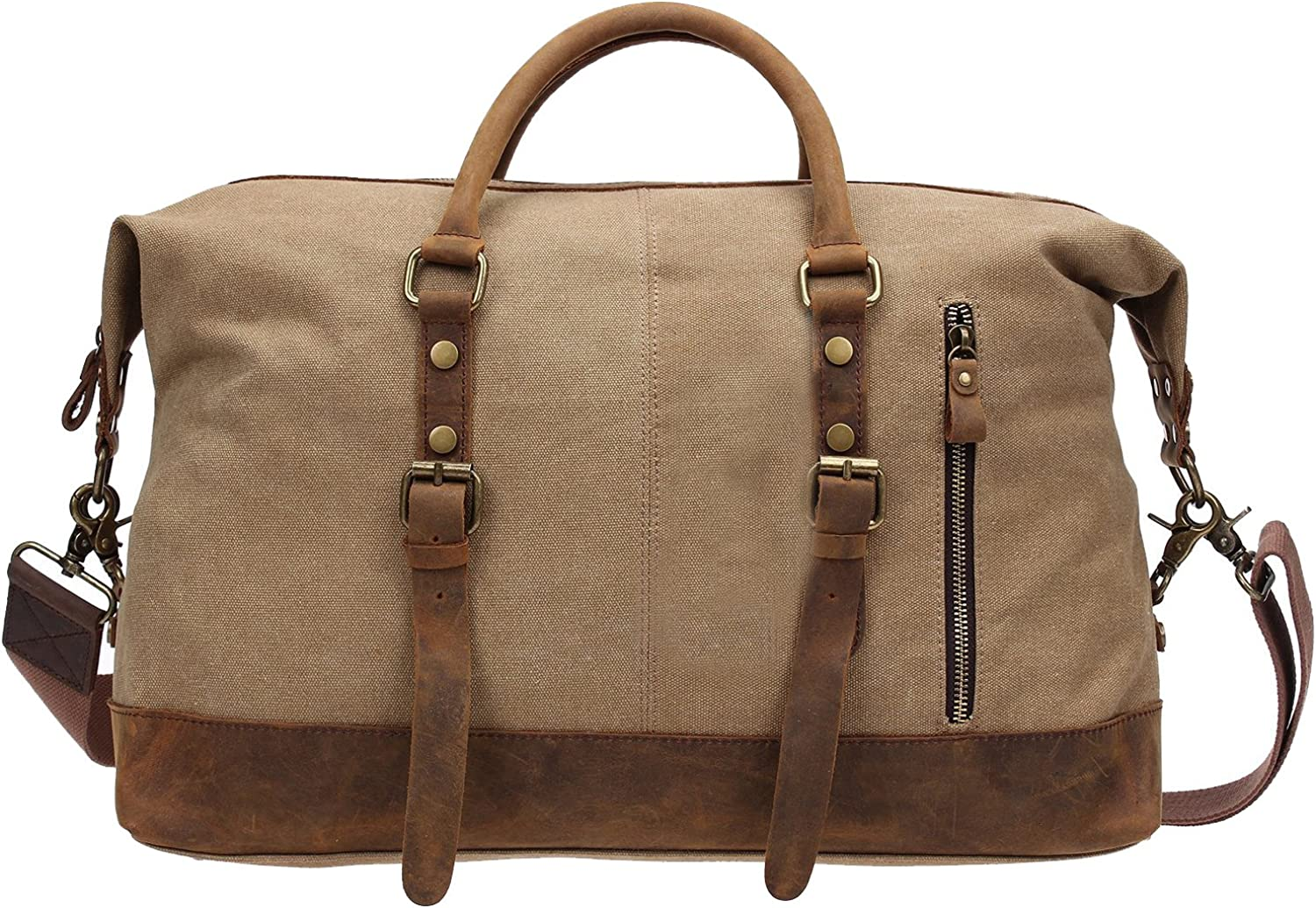 Luggage, Berchirly Canvas Duffle Bag Weekend Travel Luggage Sports Duffel Bags Unisex