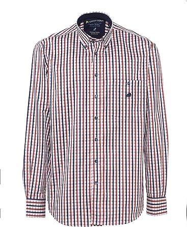 GREEN COAST Camisa de Hombre Cuadro 100% algodón Made in Italy Ajuste clásico: Amazon.es: Ropa y accesorios
