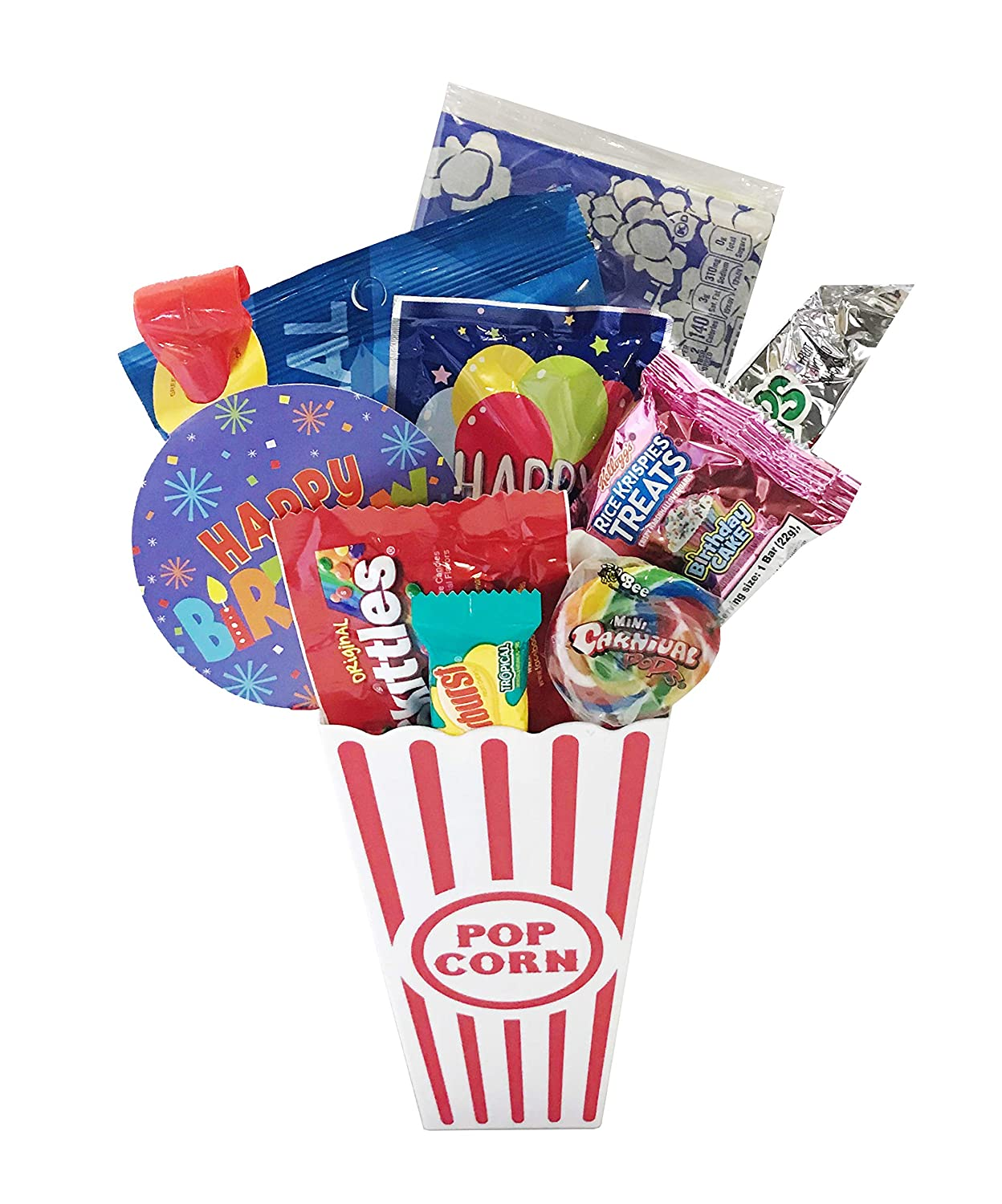 Amazon Movie Night Popcorn And Candy Birthday Gift Basket Plus Free Redbox Rental Code Card