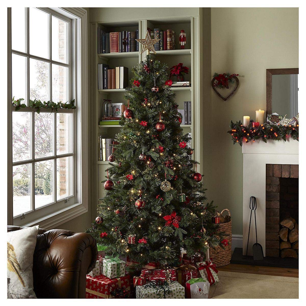 Tesco Luxury  Led Pre Lit Regency Fir Christmas Tree Amazon Co Uk Kitchen Home