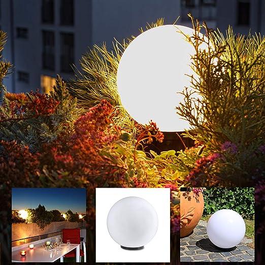 Lámpara Redonda 30cm Ø, Blancos de Jardín, Exterior, Decoración para Interior & Iluminación Bola Jardín Lámparas