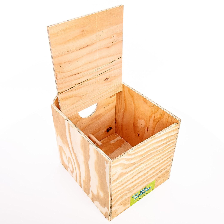 Amazon.com: Ware Manufacturing Wood Cockatiel Reverse Nest Box, Tiel: Pet  Supplies