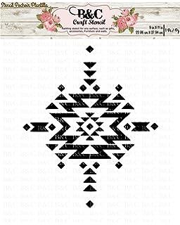 Stencil Tribal Aztec Boho Navajo native craft and home decoration