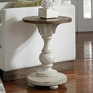 Liberty Furniture Industries Morgan Creek Chair Side Table, W18 x D18 x H24, White