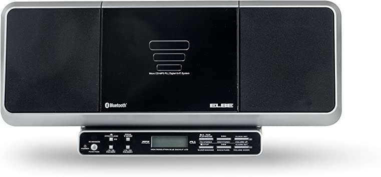 Elbe HiFi - 558 - BT - Microcadena estéreo Digital (LCD, Bluetooth, MP3, Lector CD-R), Negro: Amazon.es: Electrónica