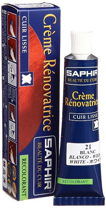SAPHIR Betún, crema renovadora, blanco (BLANC 21), Tube 25 ml