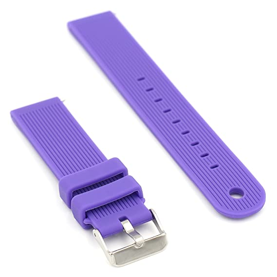 Woodln Silicone Replacement Wireless Watchband Smart Watch Strap Bracelet Band for Motorola Moto 360 2nd Gen (Purple)