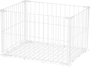 IRIS Modular Wire Stacking Storage Container, Large, White