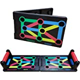 HEYNEMO Push Up Board Foldable 9 in 1 System Power Press Gym Fitness Exercise Stands for Muscle Body Building