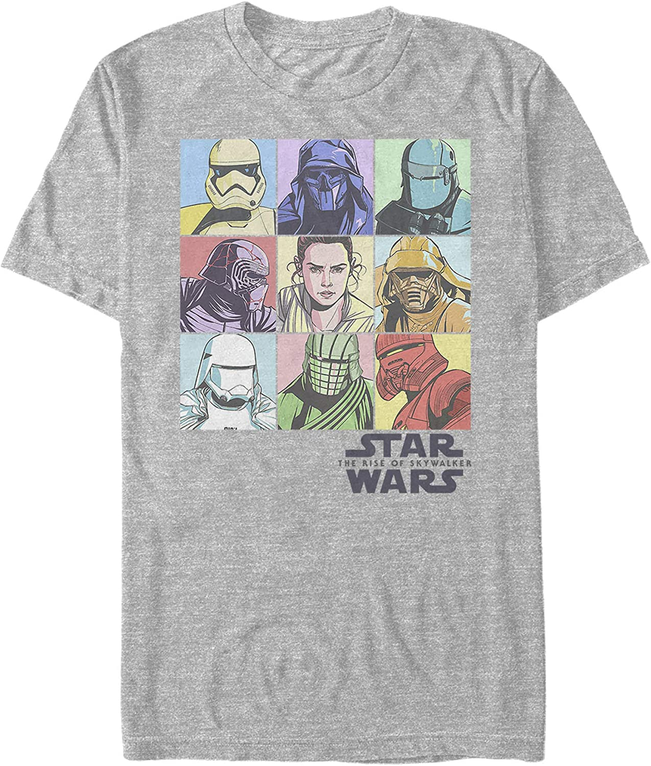 Amazon Com Star Wars The Rise Of Skywalker Men S Pastel Character Bingo T Shirt Clothing