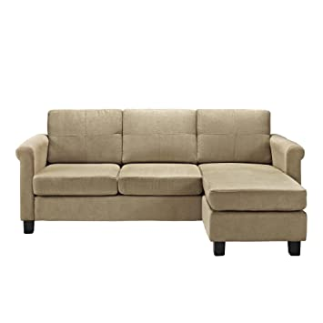 Merveilleux Dorel Living Small Spaces Configurable Sectional Sofa, Taupe