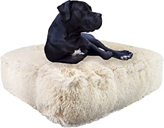 product image for Bessie and Barnie Blondie Luxury Shag Extra Plush Faux Fur Rectangle Pet/Dog Bed (Multiple Sizes)