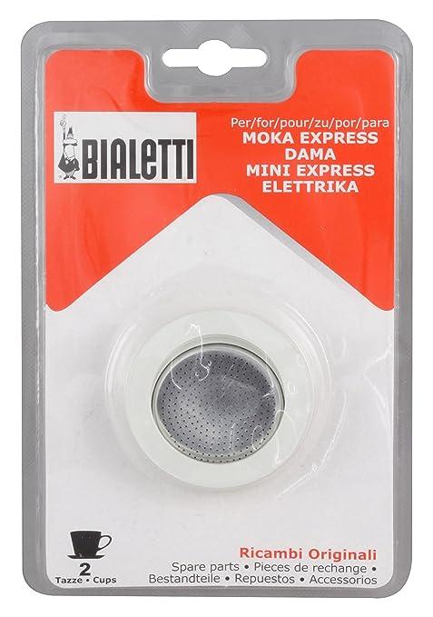 Bialetti - Blister Junta y filtro para máquina de café Moka - Color blanco - 4