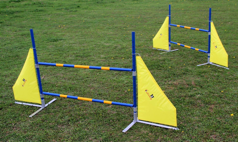 "2Stk. Agility Hürden, Callieway® Dog Agi Jump Pro"" inkl. je 2 Wurfstangen (FCI konform)"