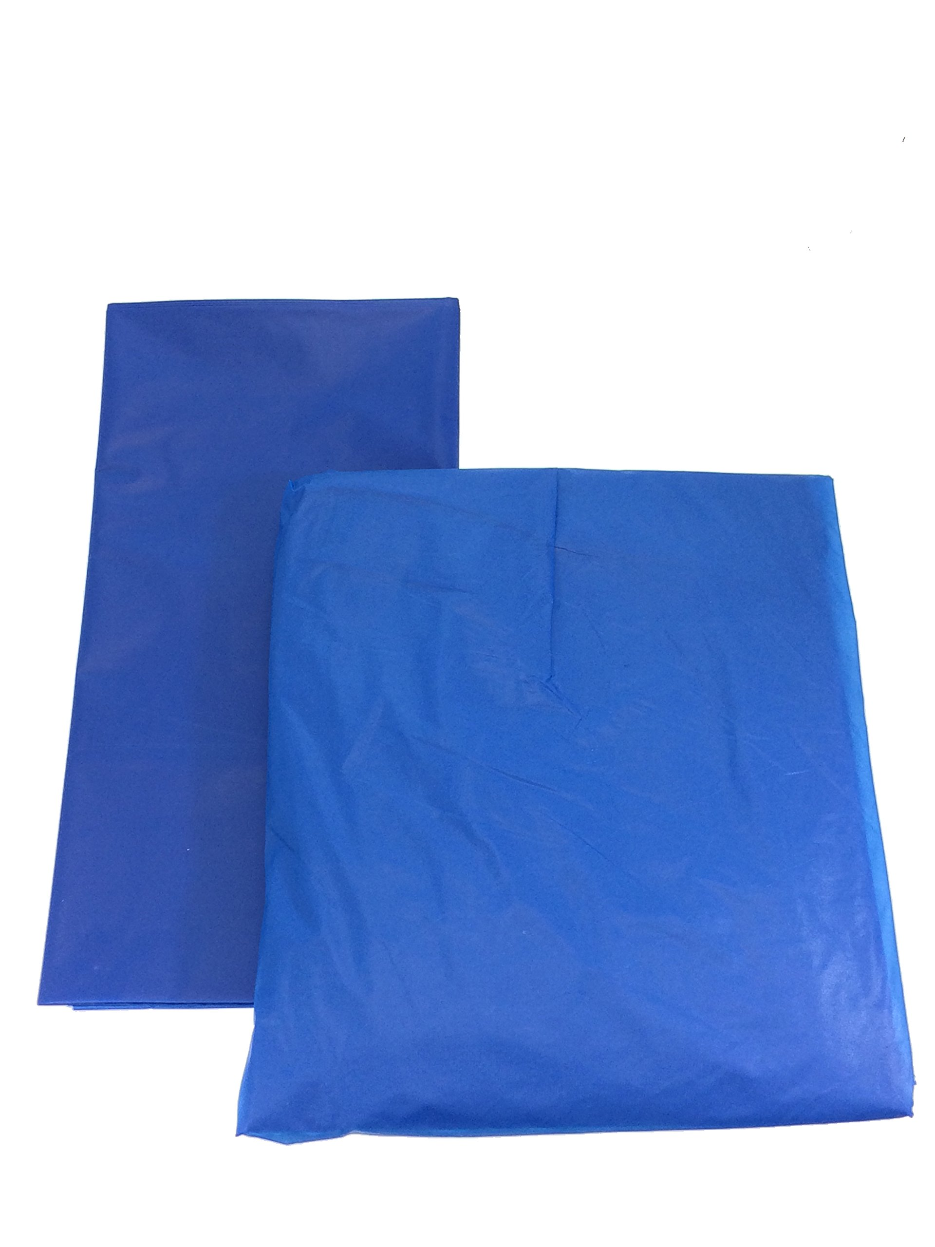 Set of 6 Plastic Table Covers with 6 Table Skirts for Parties (Royal Blue) by LACrafts