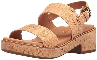 4090243c599 Gentle Souls Womens Talia Cork Dual Band Platform Sandal Shoes