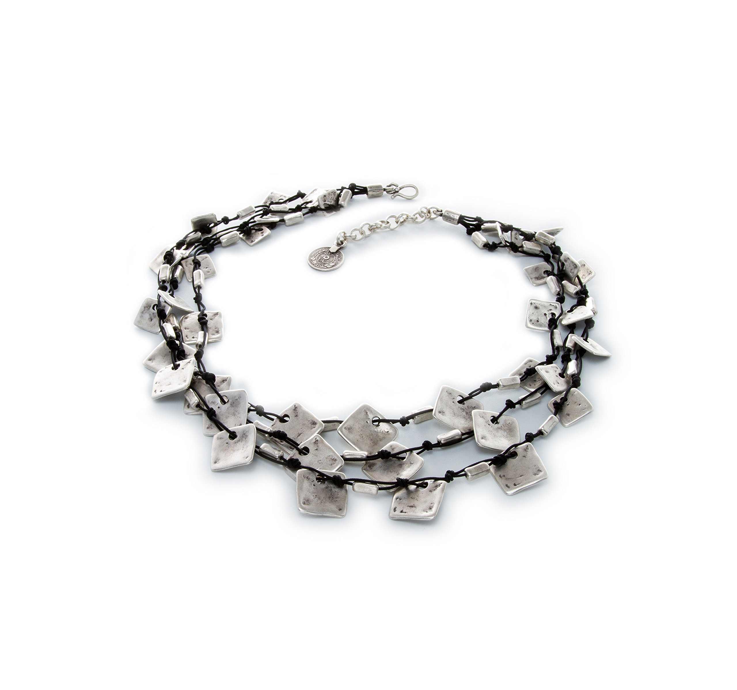 Fashion Jewelry 2017 Collection - Silver plated antique hand crafted - Necklace 19'' to 20'' length - 1033