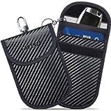 Faraday Bag for Key Fob (2 Pack), GICENT Car RFID Signal Blocking Pouch,Faraday Key fob Protector, Black Anti-Theft…