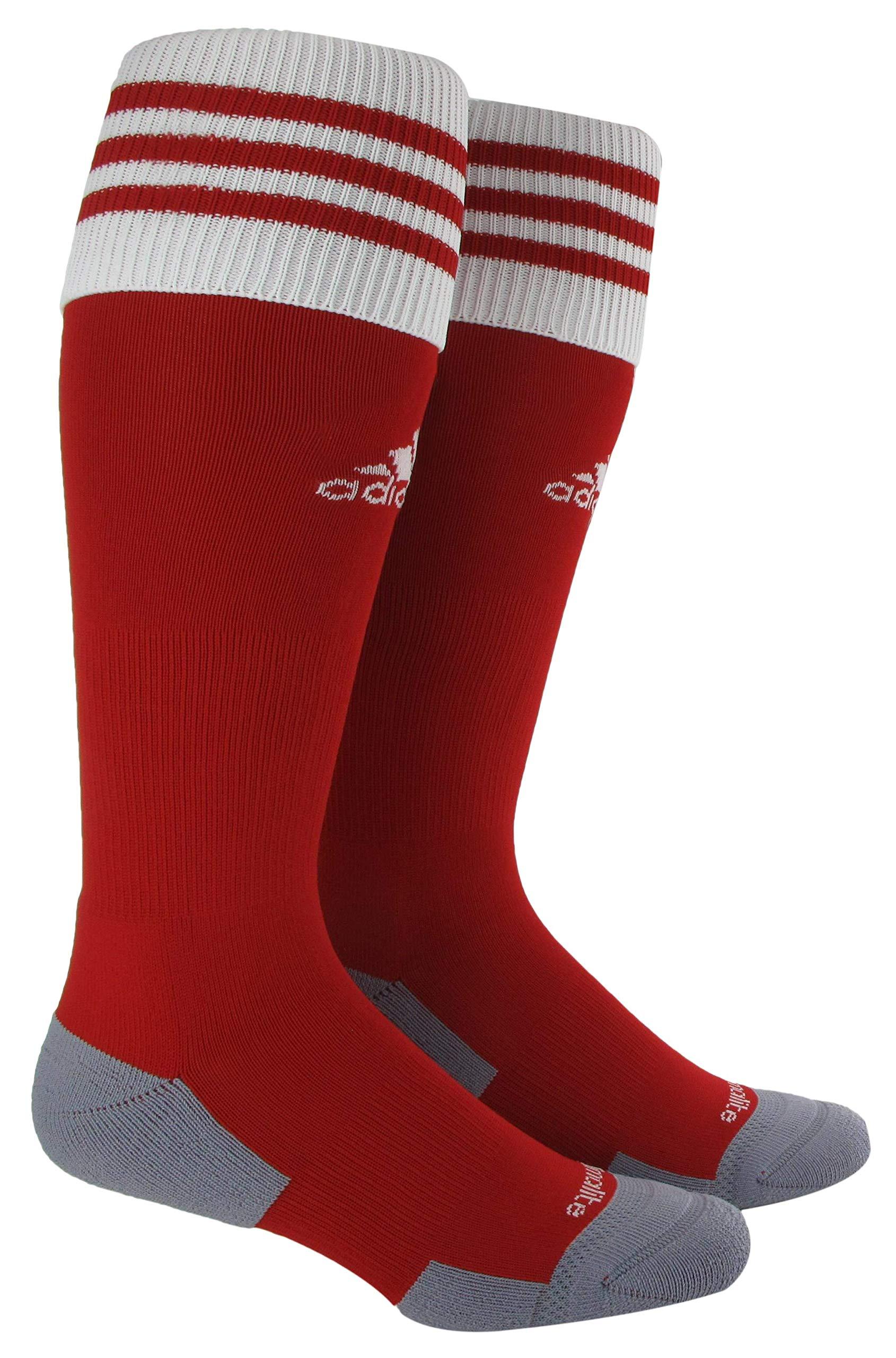 adidas Unisex Copa Zone Cushion II Soccer Sock (1-Pair), University Red/White, 9-13 by adidas