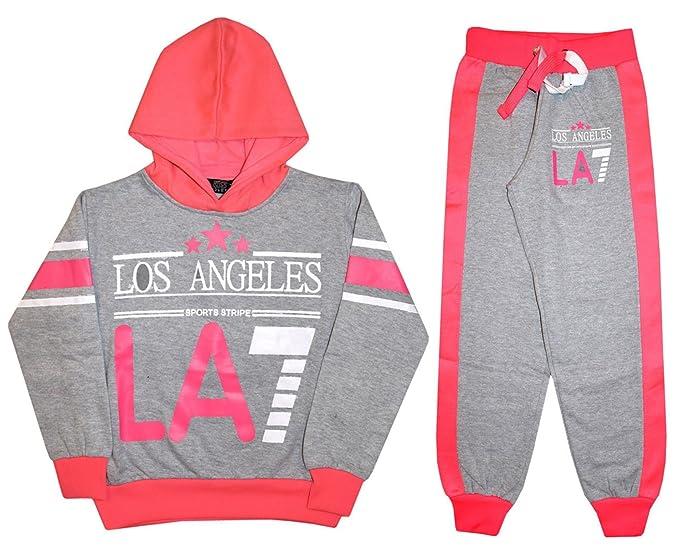 Las niñas Chándal los ángeles LA7 impresión Kids Jogging Traje Set ...